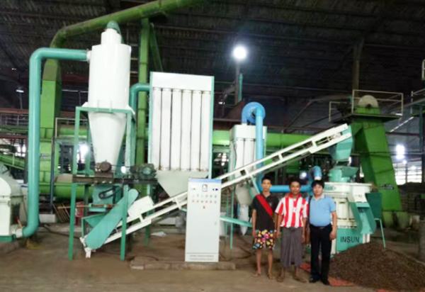 泰国时产3吨棕榈颗粒生产线